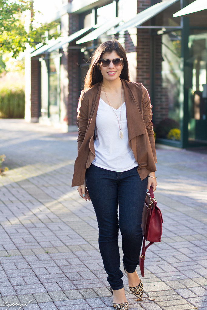 brown suede jacket, white tee, denim, leopard pumps-2.jpg