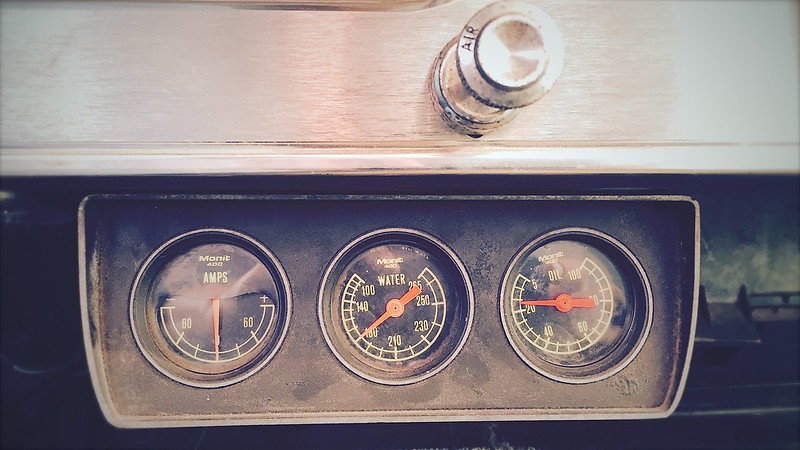 installing a new oil pressure gauge line in the galaxie 500! II.