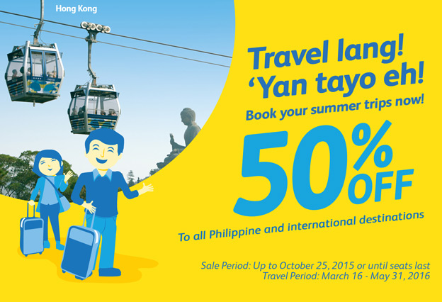 Cebu Pacific Promo October 1 2015