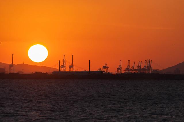 sunset Amagasaki