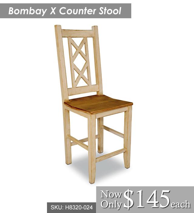 Bombay X Counter Stool