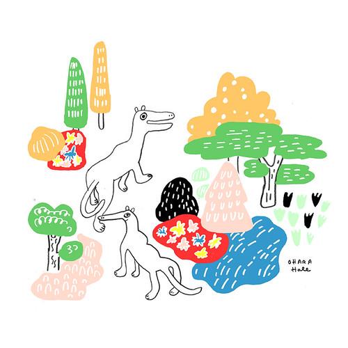 SNORMIFFIN'S in a garden