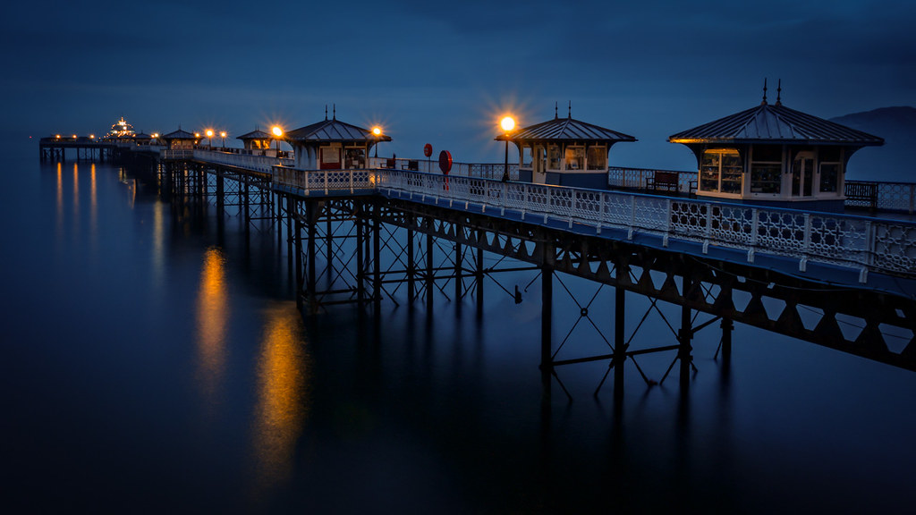 Llamdudno Pier At Night