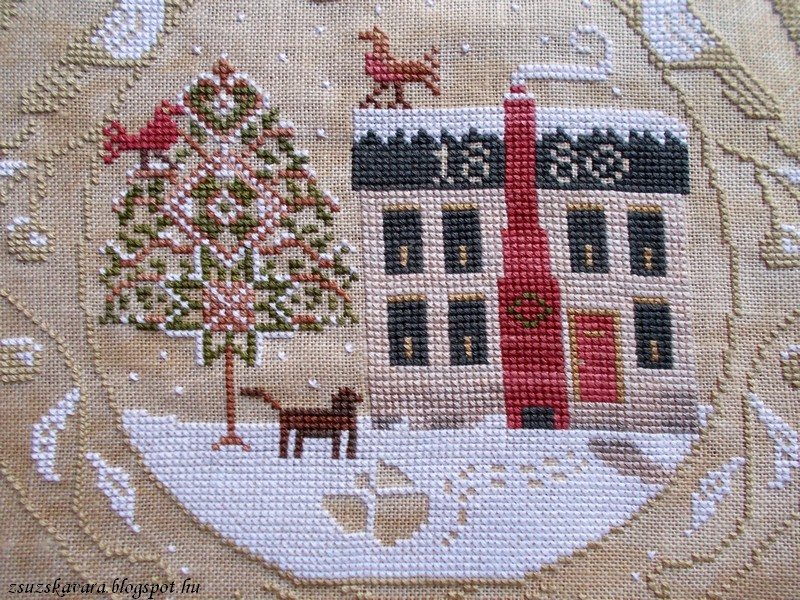 lone elm lane, snow angel, christmas, cross stitch (3)