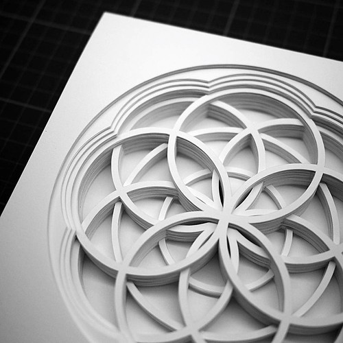 Circular Layered Paper Cutting