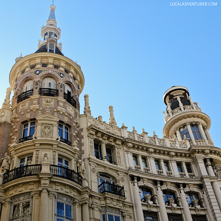 Admire the Architecture along Gran Via (21 Remarkable Things to Do in Madrid Spain).