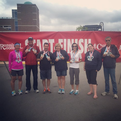 Mei, Dan, Eddie, Anna, Gianna, Kristen and Paul show off their medals