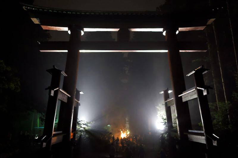 吉田の火祭りの写真