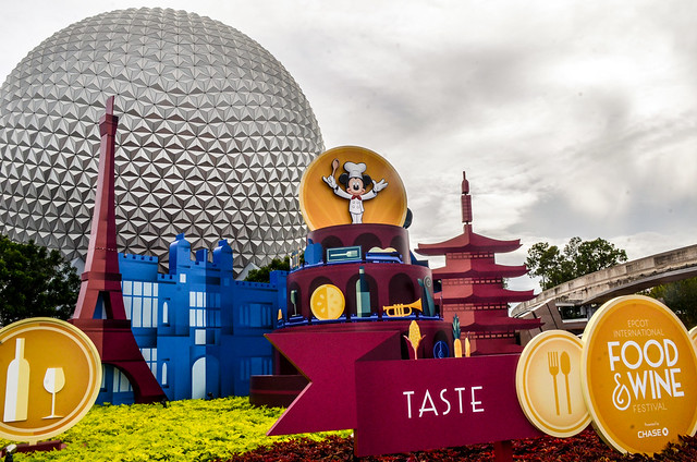 Food and Wine entrance Epcot