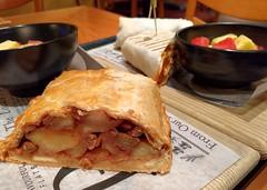 Apple strudel and dirty bowl wrap at Portobello, W…