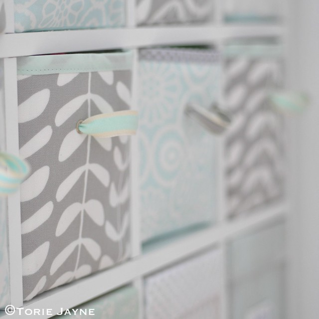 Handmade fabric storage drawers