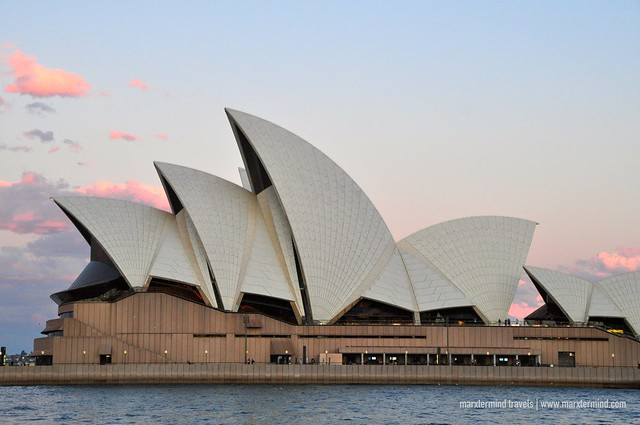 Sydney Opera House as Seen from River Cruise