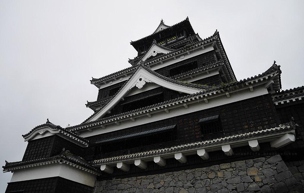 熊本城 雨