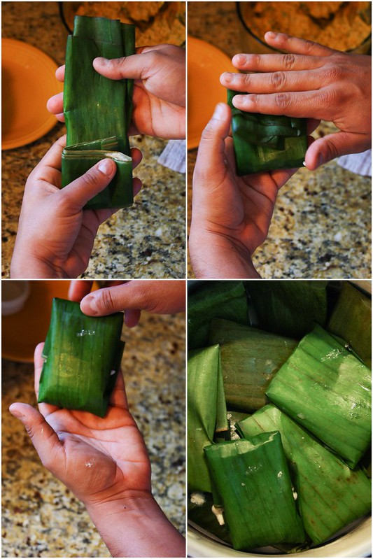 Folding tamales; Part 2