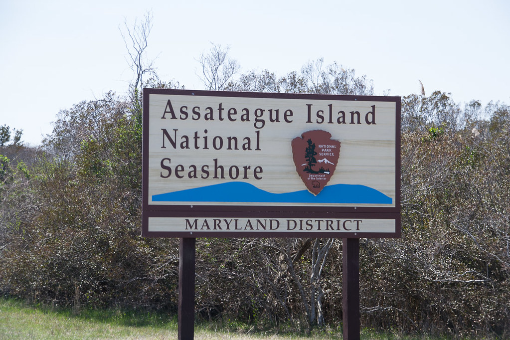Sign for Assateague Island National Seashore