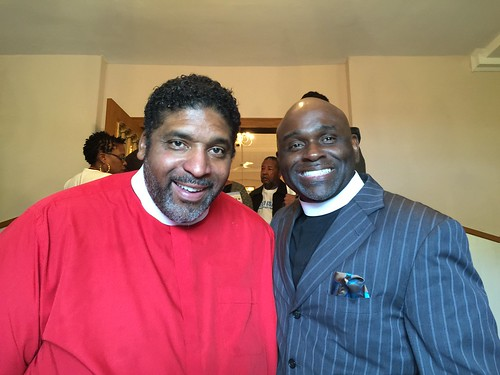 Reverend William Barber II and Reverend Brent La Prince Edwards. Photo by Katherine Muller