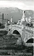 postcard - bolzano - ponte druso - 1956