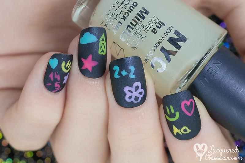 Tabuľový nail art / Blackboard nail art