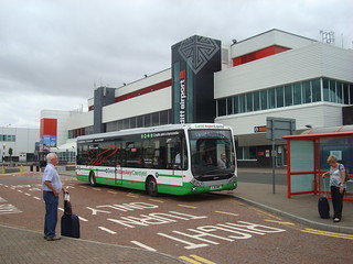 TrawsCymru T9 (Cardiff Airport Express) at the airport
