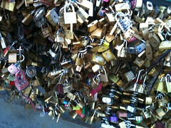 Love lock, cadenas d'amour, Paris