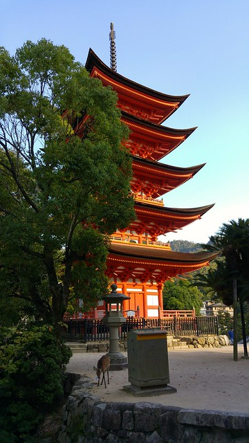 The 5 story pagoda - and a deer of course