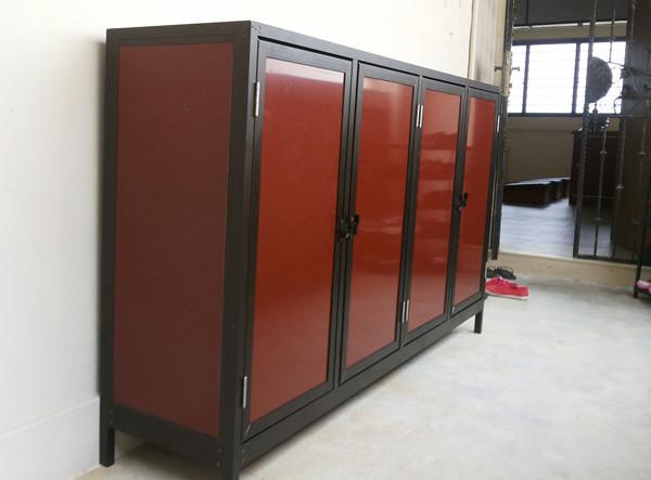 aluminium shoe cabinet along hdb corridor