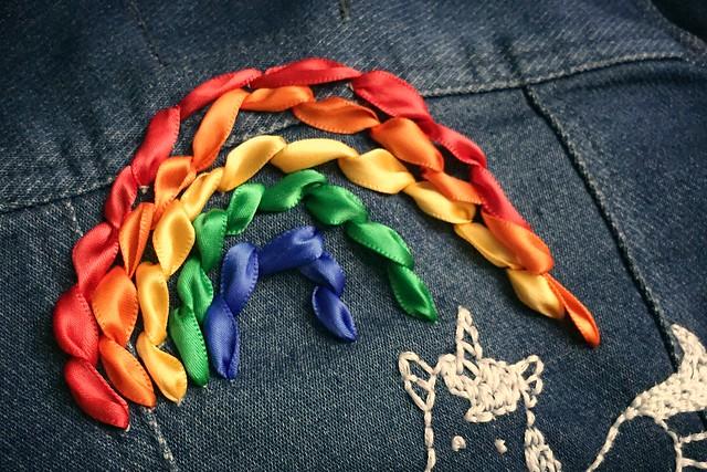 Unicorn & Rainbow Embroidery