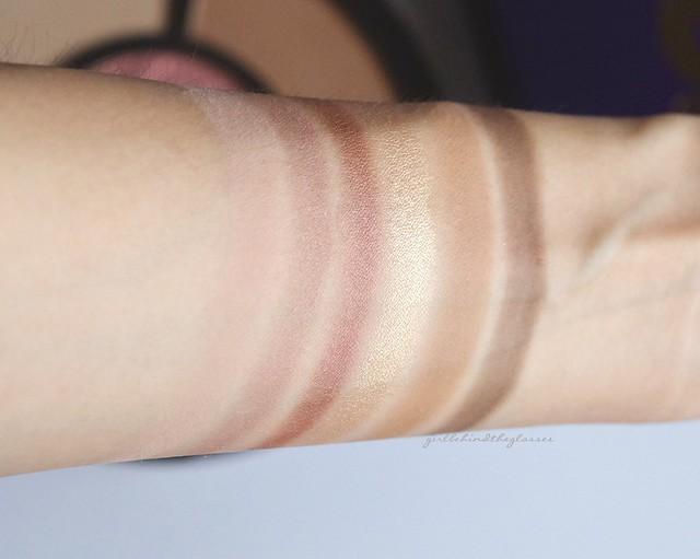 Tarte Rainforest After Dark Colored Clay Eye & Cheek Palette swatches2