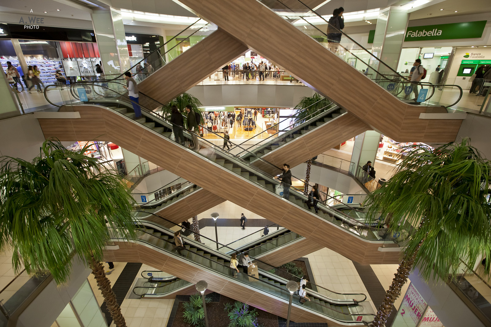 Shopping mall in Santiago