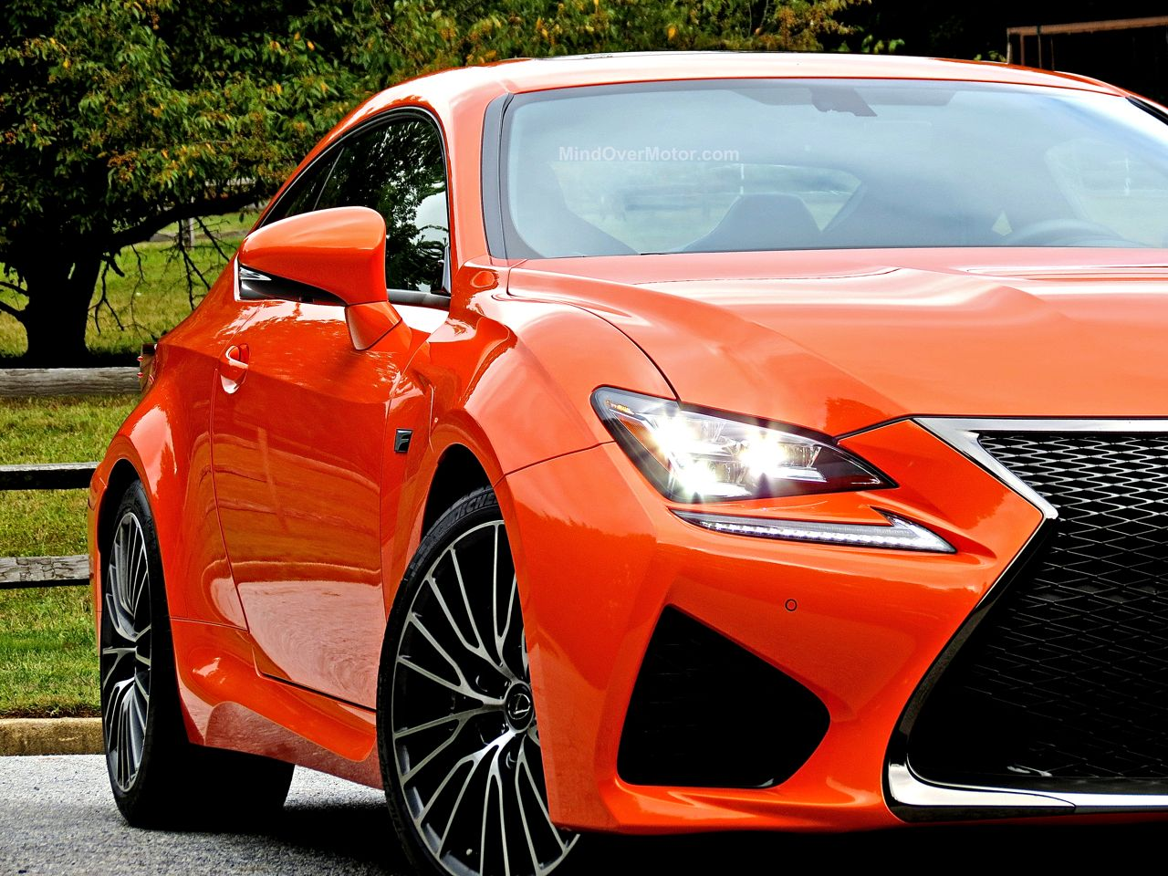 Orange Lexus RC-F Review 3