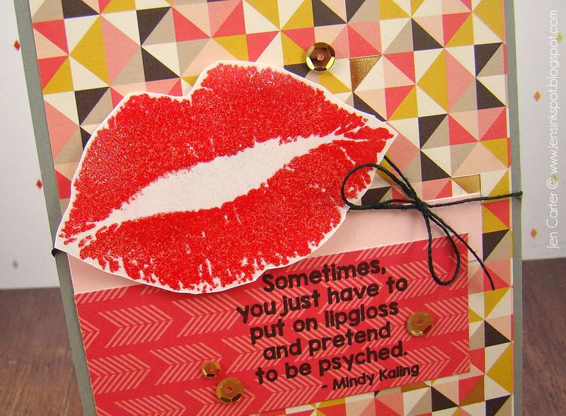 Jen Carter Lips Psyched Closeup