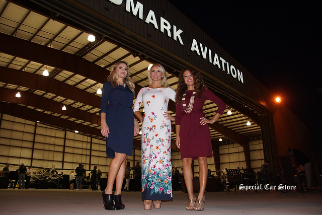 Models wearing Tommy Bahama at Landmark Aviation Hanger