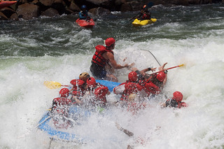 White Water Rafting the Zambezi River.
