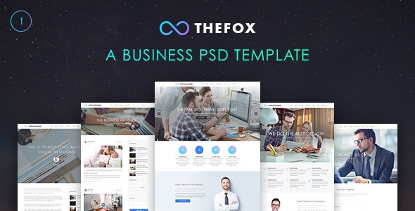 Themeforest TheFox v1.0 - Business PSD Template