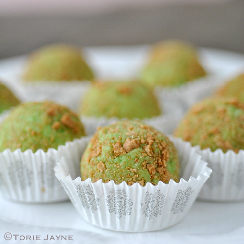 Handmade key lime pie truffles