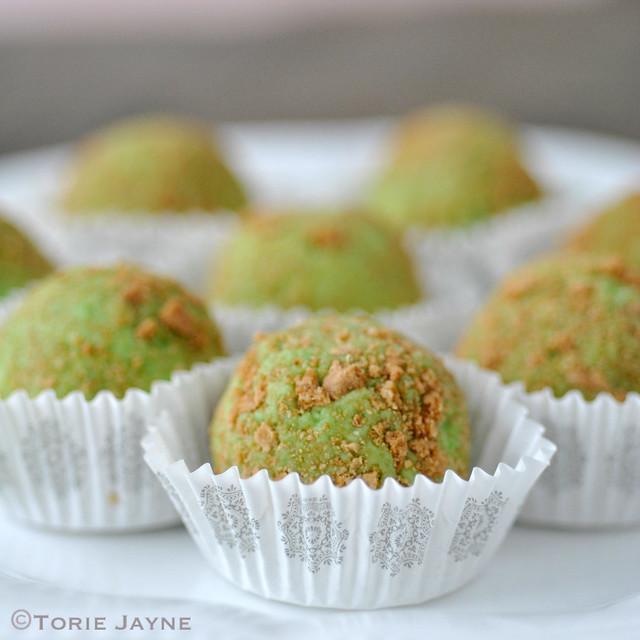 Handmade key lime pie truffles