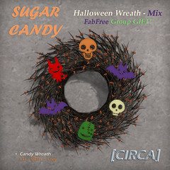 "FabFree GIFT ~ [CIRCA] - ""Sugar Candy"" - Halloween Wreaths - Mixed"