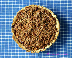Vegan Thanksgiving Apple and Cranberry Crumb Pie