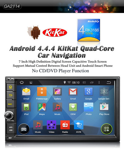 Eonon Hot Android 4.4.4 Quad-Core Car DVD GA2114 with Peak Performance is Back in Stock