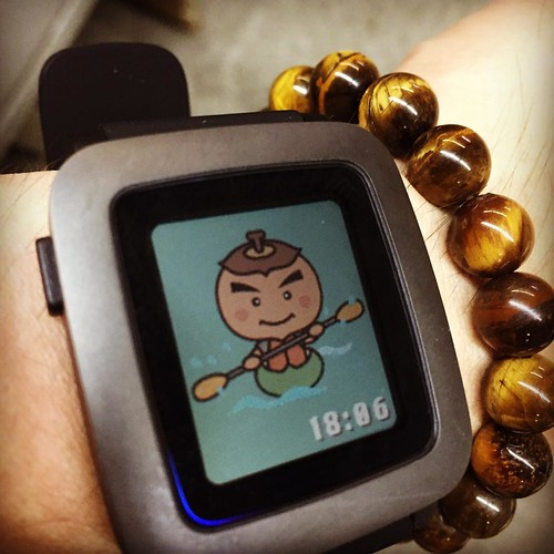 Pebble Time、柿丸くんカヌーVer.