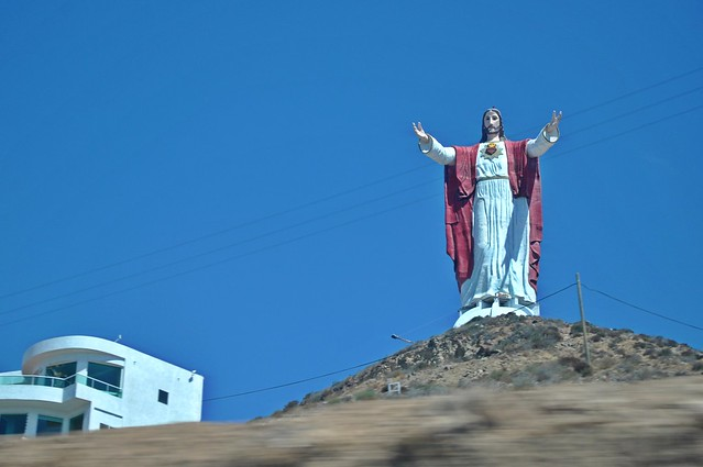 Jesus on the road in Baja California