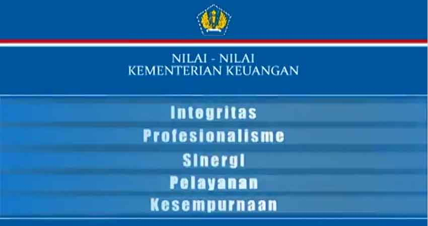 Nilai - Nilai Kementerian Keuangan