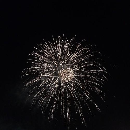 近くで花火見れた #RSR15