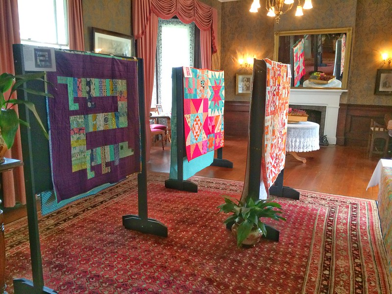 New Quilts for Alberton Beds - ballroom.