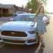 Kathy Gfeller and the Mustang by gbrummett