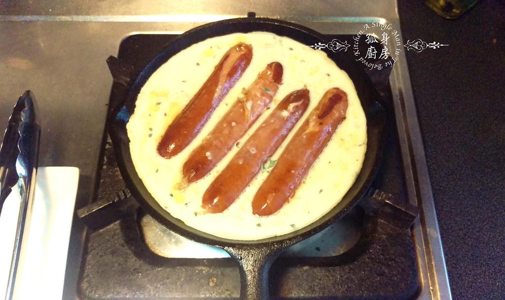 孤身廚房-蟾蜍在洞Toad in The Hole—只有香腸沒有蟾蜍的經典英國味17