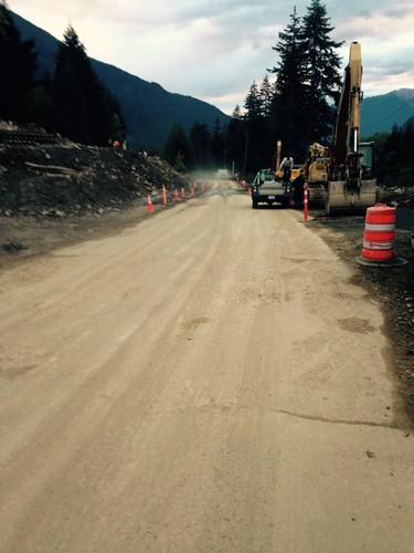 mudslide pemberton roadsafety roadrepair