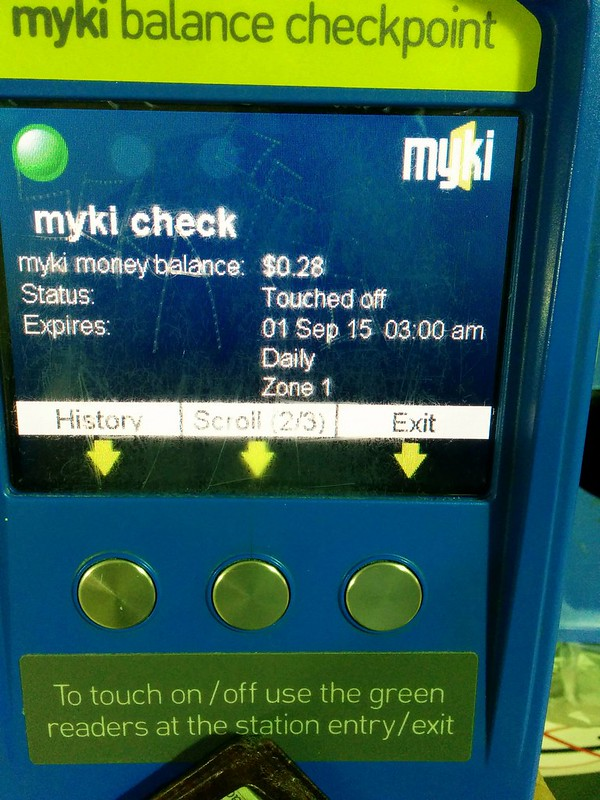 Myki Check: status of Pass