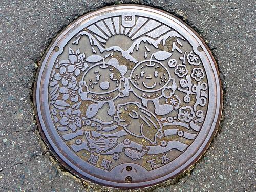 Asahi Shimane, manhole cover (島根県旭町のマンホール)
