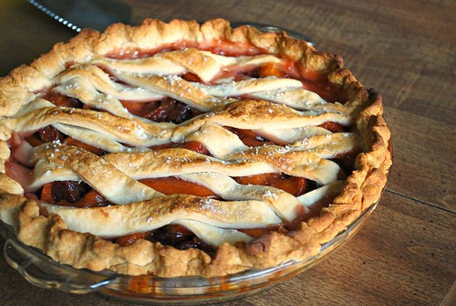 Peach & Cherry Lattice Pie